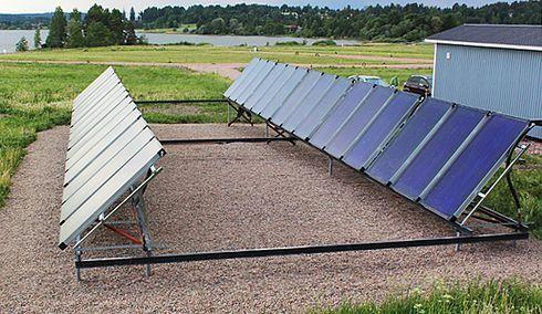 60 m2 aurinkokeräinkenttä Myrskylässä